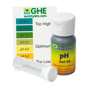 Terra Aquatica (GHE) pH Test Kit pH 4,0 bis pH 8,5, 30 ml...